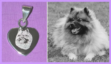 digital engraving on cremation urn pendants / pet memorial jewelry