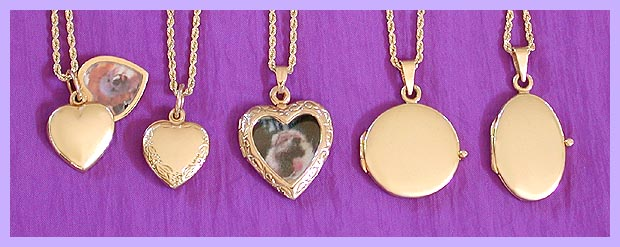 gold locket / pet memorial jewelry 2