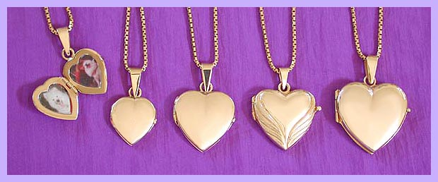 pet memorial jewelry - gold locket 1