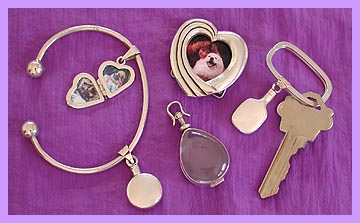 pet cremation keepsakes and memorial lockets