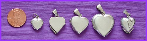 silver lockets / pet memorial jewelry