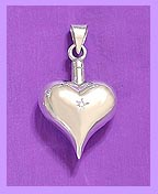 Diamond Heart pet memorial jewelry