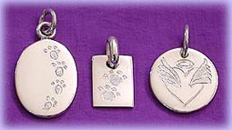pet paw hand engraved memorial jewelry