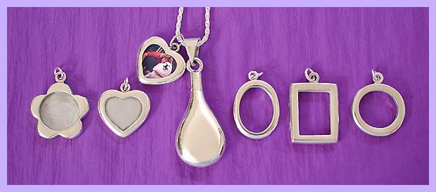 photo frame pendant / pet memorial jewelry