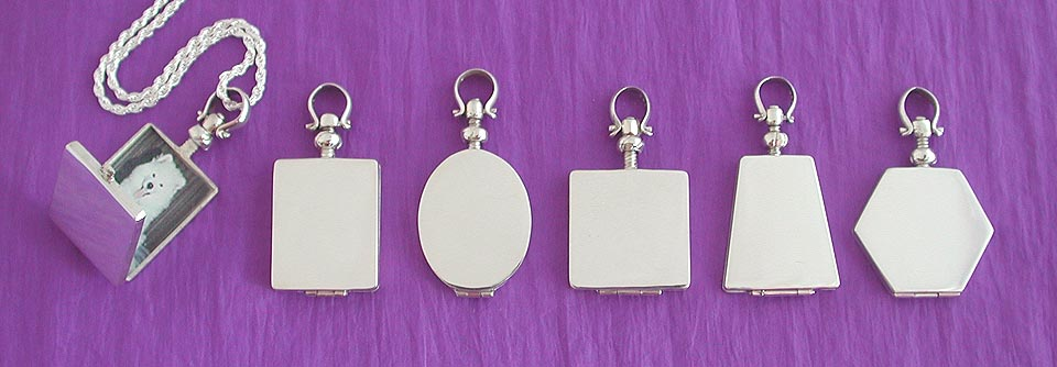 silver locket / pet memorial jewerly 1