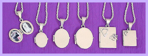 silver locket / pet memorial jewelry 2