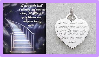 If Tears Heart pet memorial jewelry tag