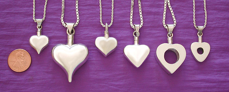 heart cremation urn pendant /pet memorial jewelry 1