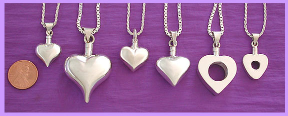 heart cremation urn pendant / pet memorial jewelry 1