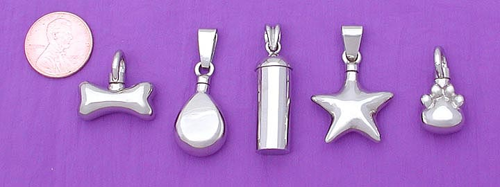 white gold pet urn cremation pendant
