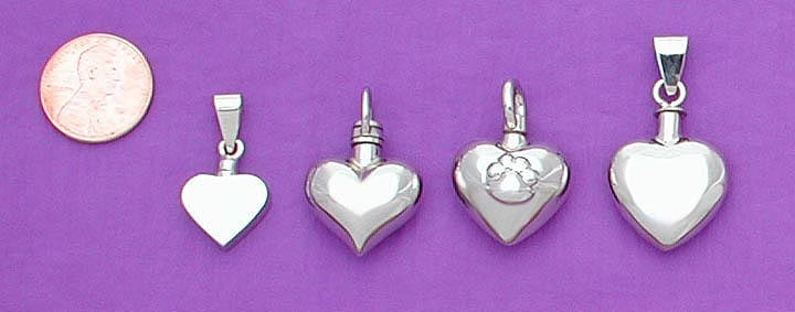 white gold pet cremation urn pendant / memorial jewelry 1